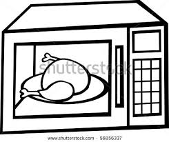 oven clipart black and white 1