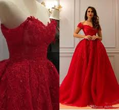 100 Where Is Dhgate Located Luxurious Red Sweetheart Ball Gown Sweep Train Appliques Glamorous