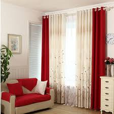 Faux Cotton Linen Curtain Modern Rustic Red Quality Stitching Living Room Curtains Fabrics Kitchen Door Drapes In From Home