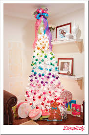 Rainbow With A Hint Of Candy Heres Another Example White Christmas Tree Decorated