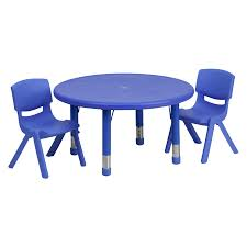 100 Playskool Plastic Table And Chairs Flash Furniture 33 Diam In Round Adjustable Activity