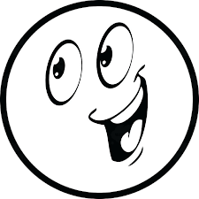Free Happy Face Clip Art Laughing Smiley Black And White