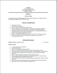 Call Center Resumes Examples Marvelous Decoration Resume Samples Free Edit