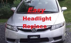 how to install a headlight bulb on 2010 honda civic lx