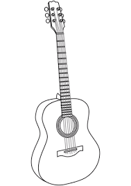 Click To See Printable Version Of Guitar Coloring Page