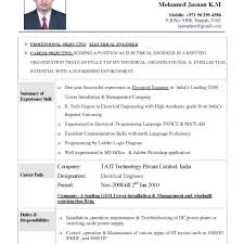 Resume Objective Examples Electrical Engineering Sample Inside Engineer Templates Enginee Medium Size