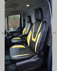 Ford Transit Custom Seat Covers - Black With Yellow Car Seat Covers ...