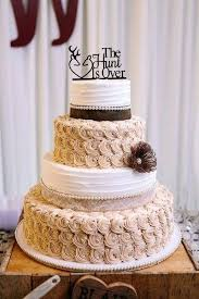 Burlap Wedding Cake Decorations Bird Toppers Ideas Country Chic Kansas
