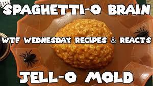 Halloween Jello Molds Brain by Wednesday Recipes U0026 Reacts Ep 6 Spaghetti O Brain Jello Mold