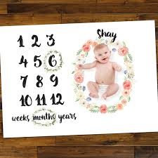 Photography Floor Mats by Floor Mat For Baby Age Photos Milestone Floral Photo Prop