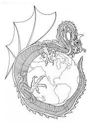 Dragon With Pearl Mandala Of World