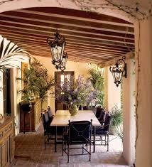 Miami Tuscan Style Furniture Patio Farmhouse With Outdoor Cushions Traditional Raised Bed Planters Pendant Lighting