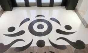 100 Marble Flooring Design Waterjet Wooden Brown RASHEED AL