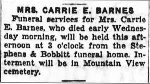 """Clara Ella """"Clary-Carrie"""" Webb Barnes (1861-1928) - Find A Grave ... Martin Barnes Funeral Youtube Austin Home And Crematory Jacqueline Jackie Crowder Fundraiser By David Rickey Funeralcremation Belfast Northern Ireland 13 August 2014 Paul Duffy Attends The Cop Teens Shooting Death After Hoops Game Really Doesnt Make Pete Funeral Stock Photo Royalty Free Image 106892384 Alamy Quamari Serunkumabarnes Brandon Hudson On Twitter Neighborhood Unites For 15yo Tyhir Melissa Walton The Cast Of Hollyoaks Filming Marjorie Armer Inc Brooke Adair Walker"""