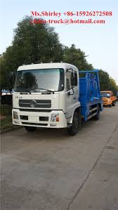 100 New Compact Trucks 2019 Dongfeng Sweptbody Refuse Collector Garbage