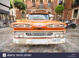 LEON, SPAIN - AUGUST, 22: Orange 1960 Chevy Apache Truck Car Showed ...
