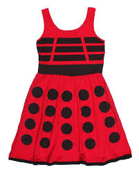doctor who her universe juniors red dalek a line dress red