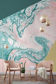 Big Ang Mural Brooklyn by Marble U0026 Glitter Geometric Wall Mural Pink Marble Wallpaper