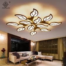 ceiling lights modern leaf design acrylic led simple smart ls