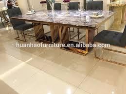dh 1447 große größe goldene edelstahl esszimmer tisch mit marmor top buy gold esstisch großer esstisch edelstahl esstische edelstahl