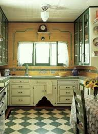 CasaGiardino His Mothers Green Checked Floor Inspired Own Kitchen