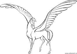 Cute Pegasus Coloring Pages For Kids Disney