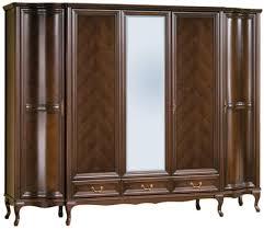 casa padrino luxus jugendstil schlafzimmerschrank dunkelbraun 256 8 x 63 5 x h 206 cm massivholz kleiderschrank mit 5 türen und 3 schubladen