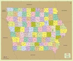 iowa zip code map iowa postal code