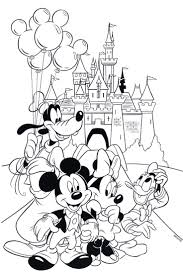 Free Disney Coloring Page Features Cinderellas Castle And All The Gang At Walt World