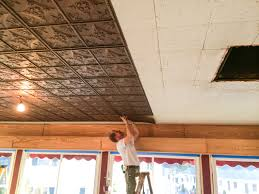 Do All Acoustic Ceiling Tiles Have Asbestos by Cathedral Antique Bronze Faux Tin Ceiling Tiles