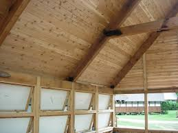 tongue and groove wood roof decking cef cabin progress 6 6 11 easterday construction