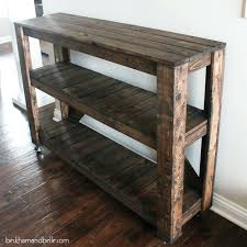 Entry Way Table Diy Wooden Console Entryway Shelterness Small