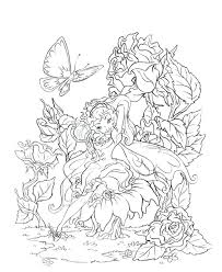 Butterfly Fairy Rose Coloring Pages Colouring Adult Detailed Advanced Printable Fairies Book Free Sheets For Adults