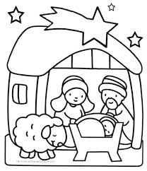 Baby Jesus Nativity Christmas Story Coloring Pages