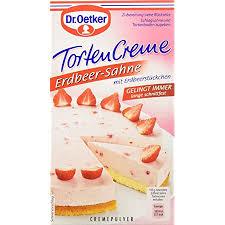 dr oetker tortencreme erdbeer sahne 11er pack