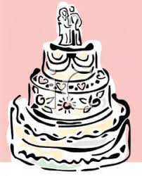Clipart Image An Elegant Wedding Cake