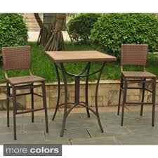 wicker bar height patio set outdoor bistro sets for less overstock