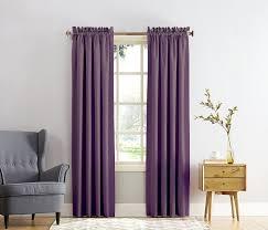 Kohls Sheer Curtain Panels by Amazon Com Sun Zero Barrow Energy Efficient Rod Pocket Curtain