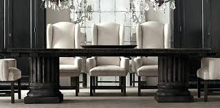 Restoration Hardware Dining Room Tables Rooms Peripatetic Captivating Table Color And Also