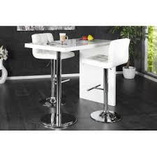 table de bar tomy blanc laque