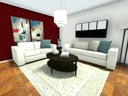 Dining Room Accent Wall Idea Bond Triplex For Small Ideas Living Furniture Layout With Dark Red