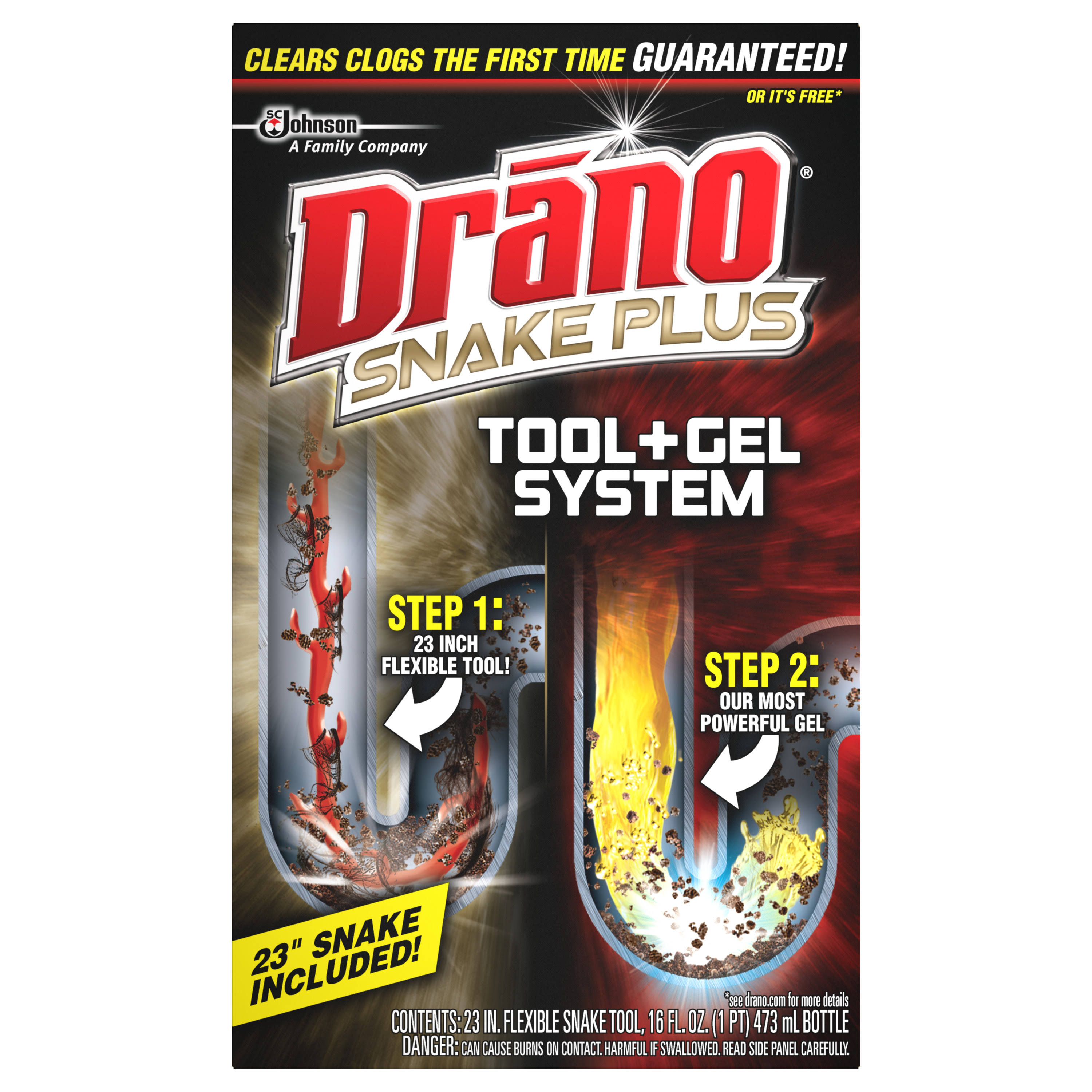 Drano Snake Plus Drain Cleaning Kit - 16oz
