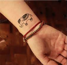 Get Quotations GC Lovely Elephant Hand Neck Chest Fake Tattoo Sticker Arm For Men Women GF32