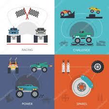 100 Juegos De Monster Truck Juego Vector De Stock Macrovector 93122818