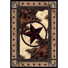 Area Rugs With The Texas Star On It
