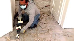 Thinset For Porcelain Tile On Concrete by One Easy Way To Remove Ceramic Tile From Concrete Youtube