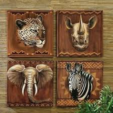 Safari Decorated Living Rooms by Decoration Safari Wall Decor Home Decor Ideas