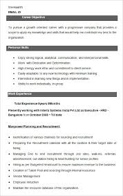 Executive HRD Resume Sample