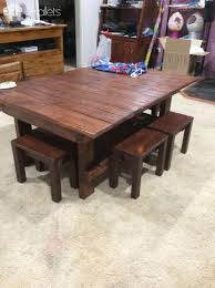 Endearing Coffee Table With Chairs For The Kids Pallet Ideas 1001 Pallets