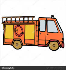 100 Trucks Cartoon Fire Trucks Cartoon Illustration Isolated On White Stock Vector